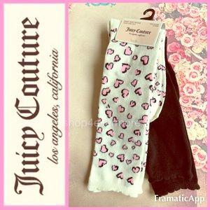 🆕💝JUICY COUTURE 2 Pair Knee High Socks